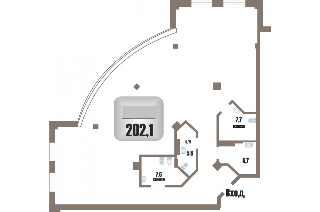 5 комнатная квартира, ул. Шейнкмана, 121 (ЖК Антарес)
