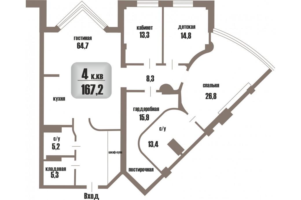"""4 комнатная квартира, ул.Шейнкмана, 119 (ЖК """"Антарес"""")"""